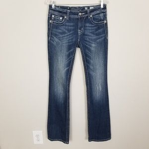 Miss Me Dark Wash Bootcut Low Rise Jeans 29